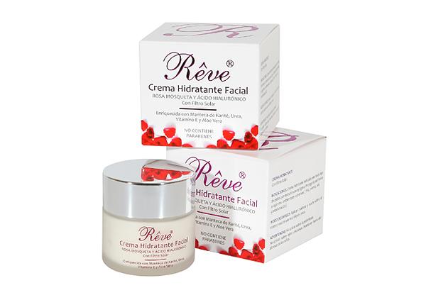 Crema Hidratante Facial con Rosa mosqueta Rêve